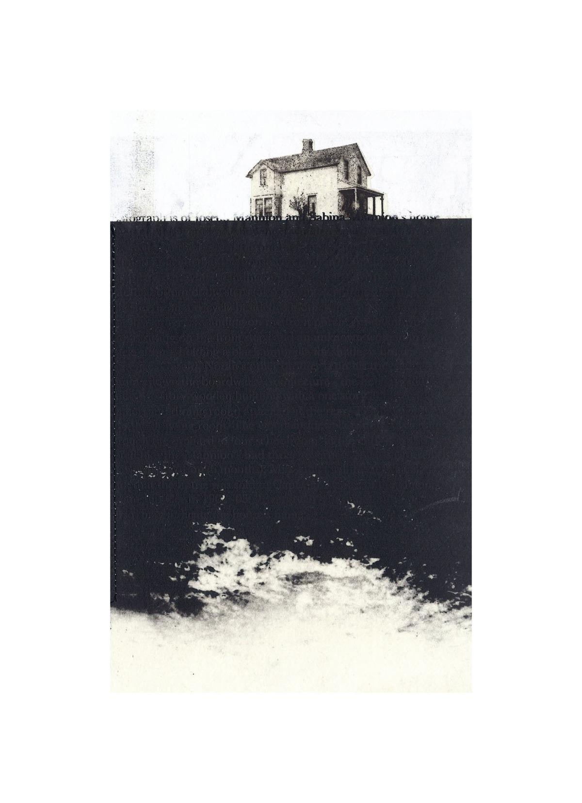 "Mannion House  Intaglio, screen print, chine colle, thread 15"" x 11"", 2012"