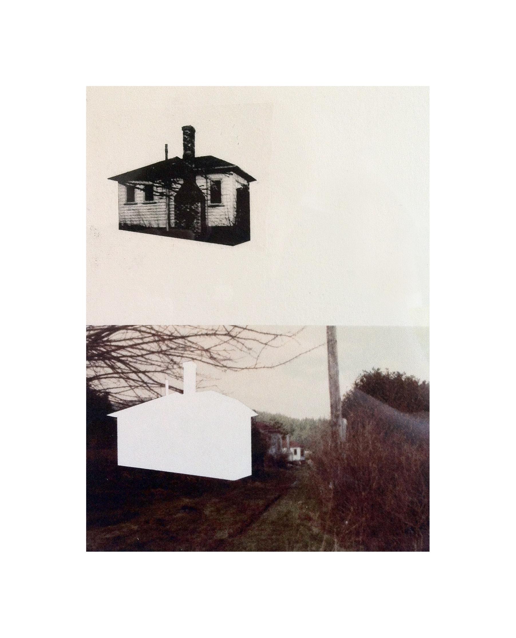"Cabin Cutouts: Union Steamship Cottages     Intaglio, digital, chine coll  é      15""x11"" 2013"