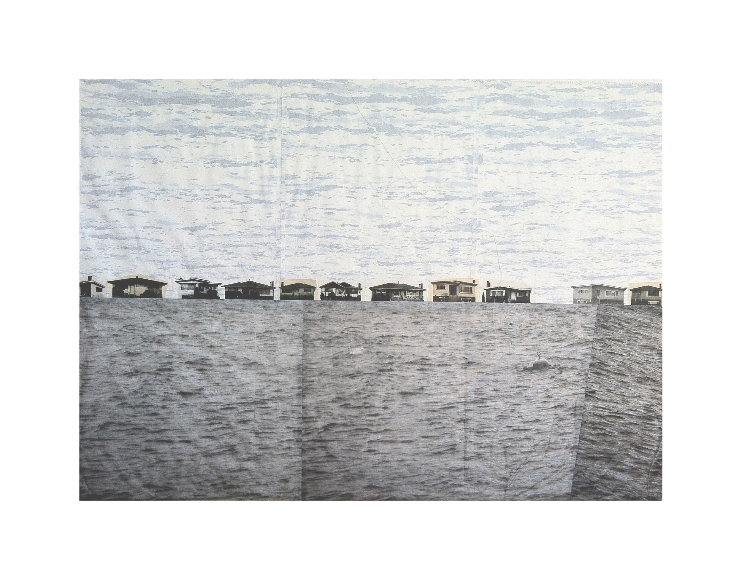 """Floating Specials   Etching, silkscreen, chine colle  37.5"""" x 46.5"""", 2008"""