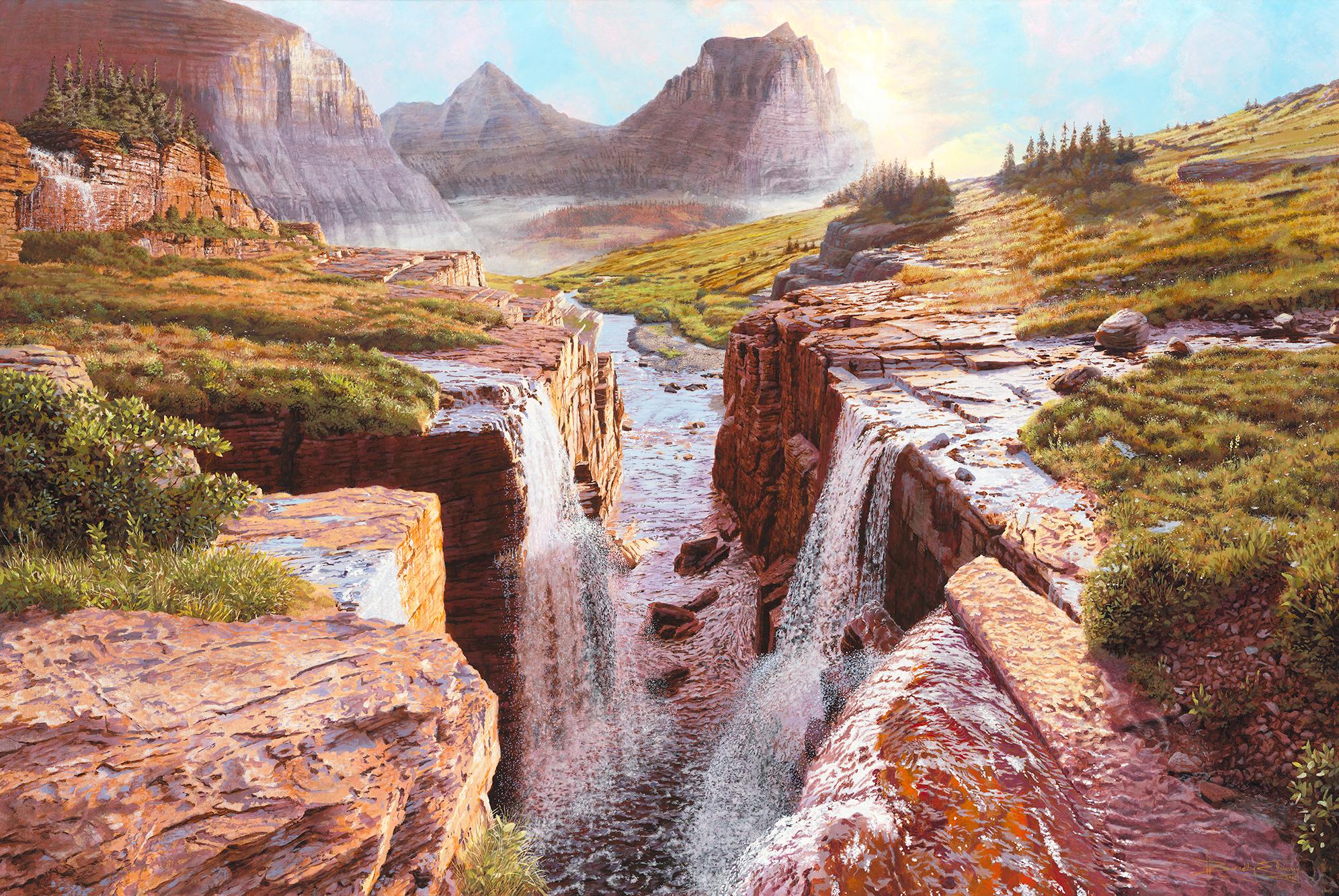 The Triple Waterfall below Logan Pass