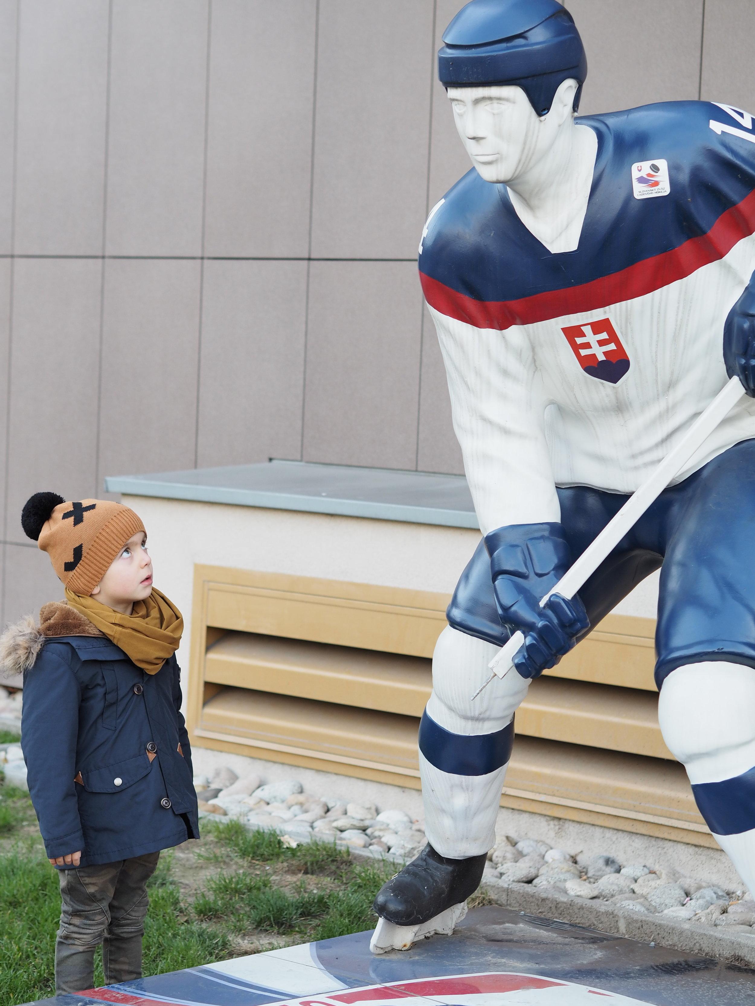Zpětně si říkám, zdali to není pomník pro nějakého zesnulého slovenského hokejistu...