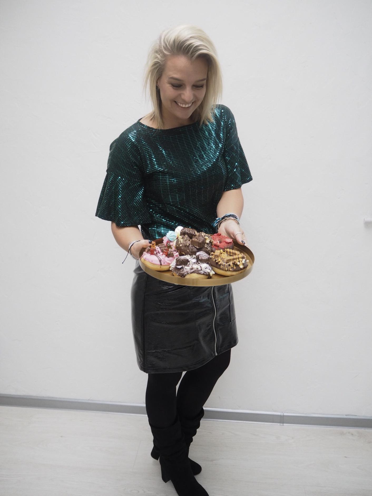 Tyhle dokonalé donuty byly také součástí flatlay workshopu s Aki.
