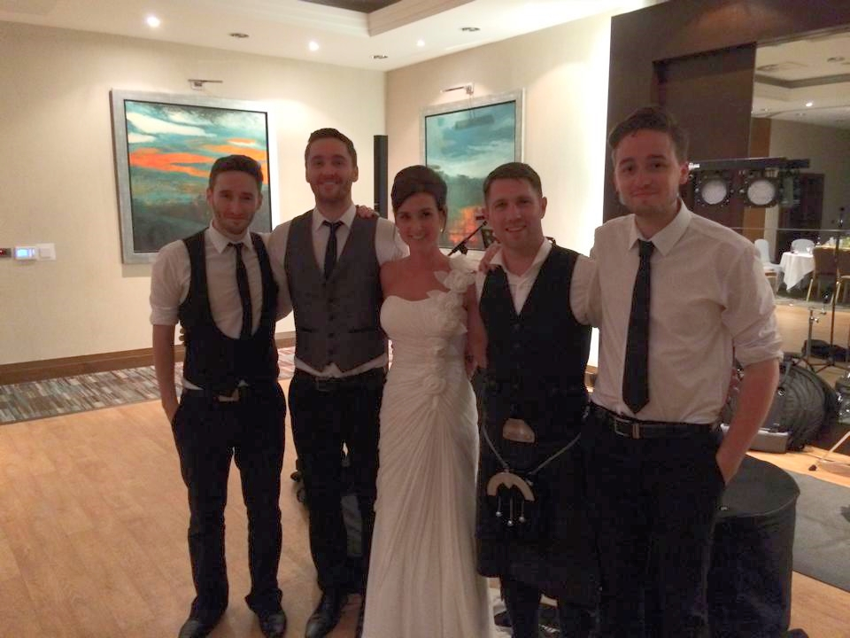 T  hank you guys for helping make our wedding a night to remember. You were absolutely brilliant and we loved every minute as you could probably tell from our 'dancing'!       Kelly and Robert