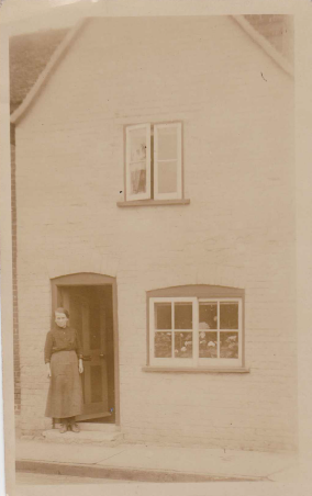 Leonard's mother at the family home at 113 Benton Street, c1911