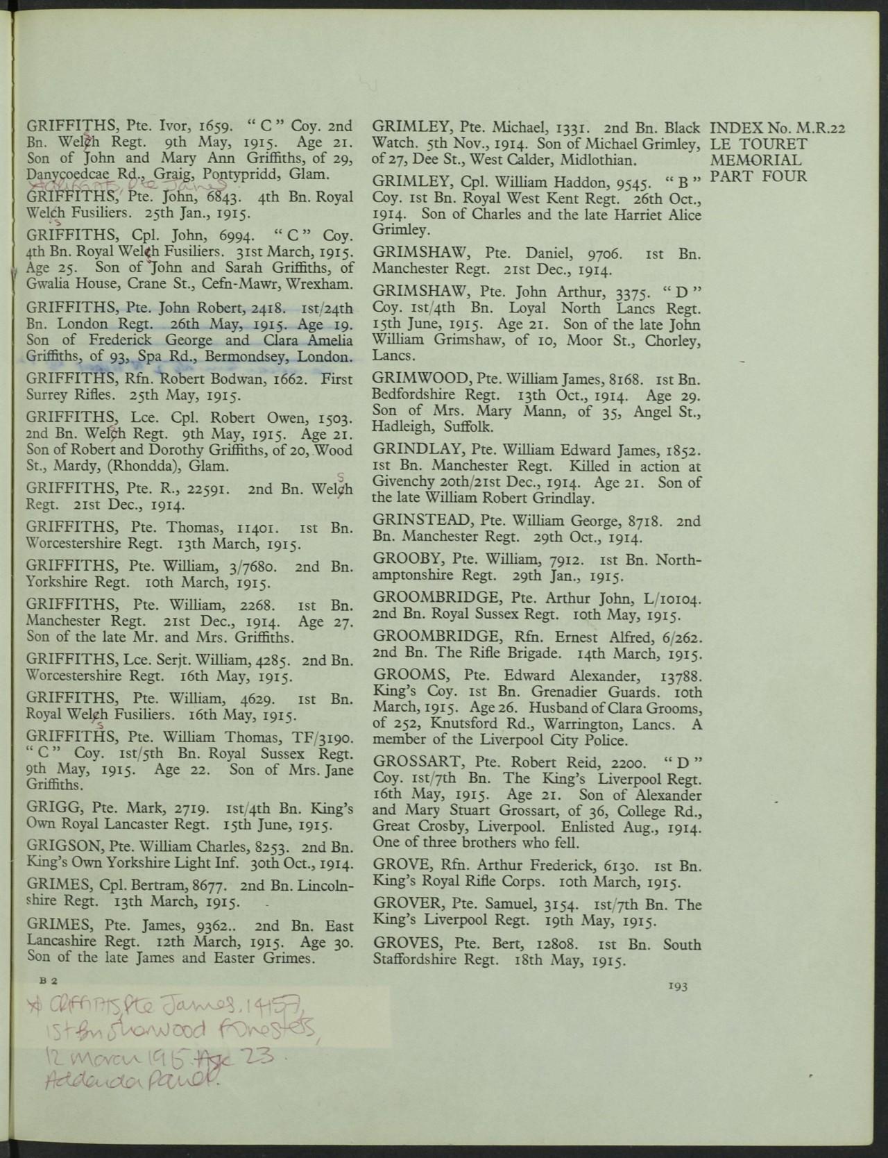 Grimwood William Le Touret Memorial register.JPG