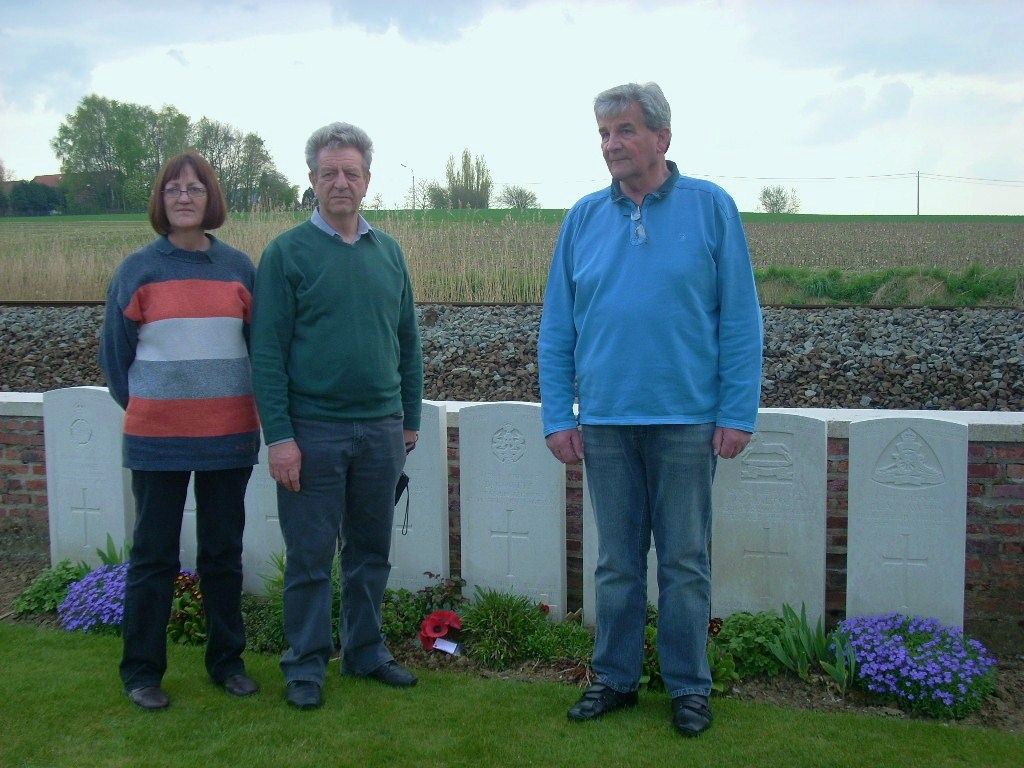 Anne, Peter & Graham, Bertie's grandchildren