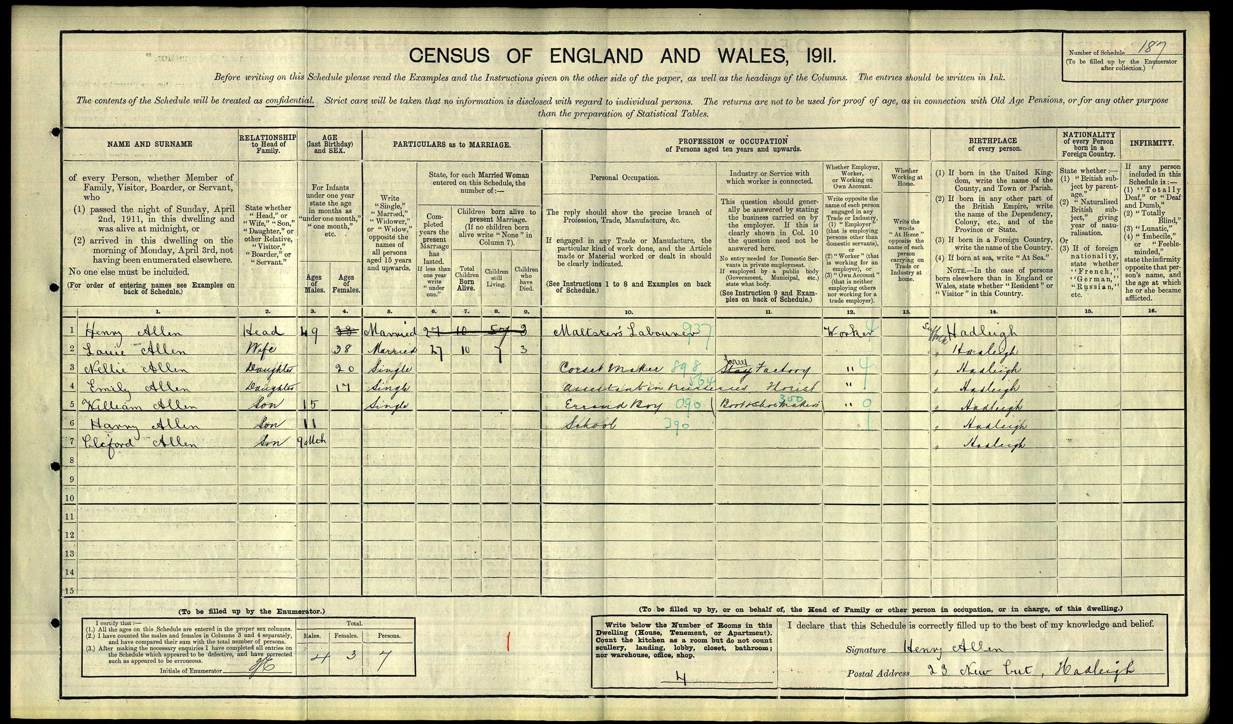 Harry Charles Allen 1911 Census.jpg