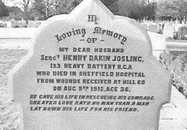 The inscription on Henry's head stone also refers to the rescue attempt.