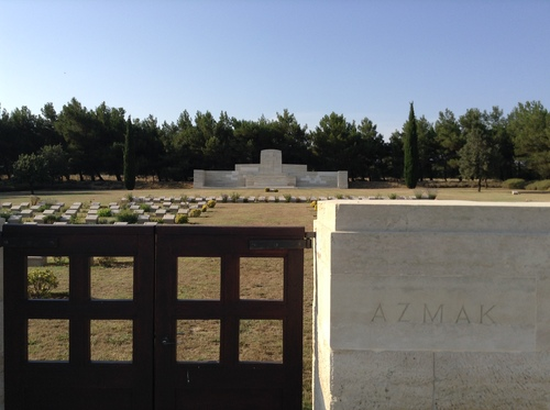 Azmak Military Cemetery close to where the 1/5th Suffolks advanced on 12 Aug 15