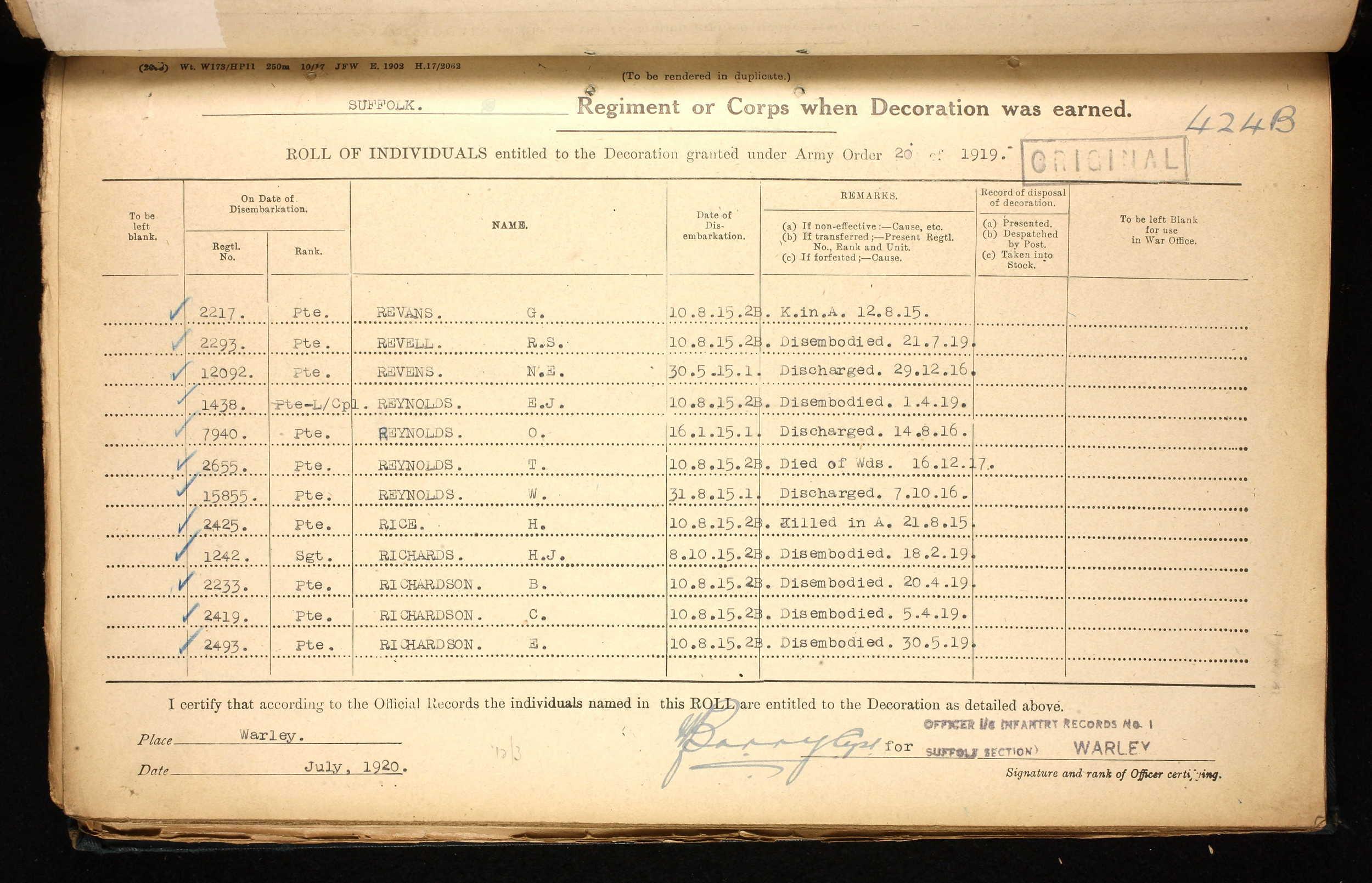 G Revans 1914-15 Star register.jpg