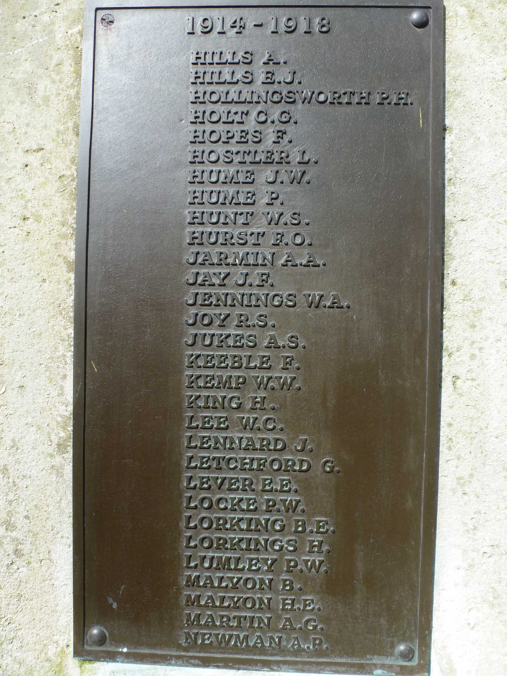 Lumley P W Sudbury War Memorial.jpg