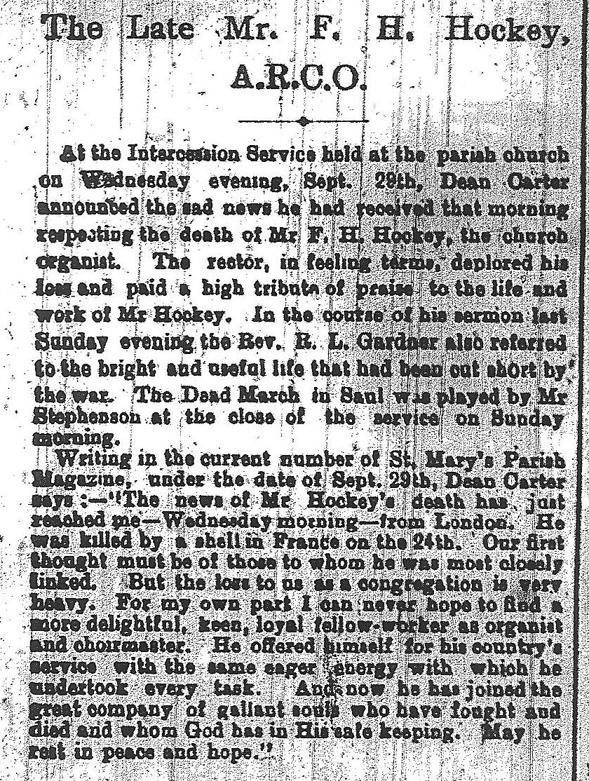 F.H.Hockley a news article about his death cropped.jpeg