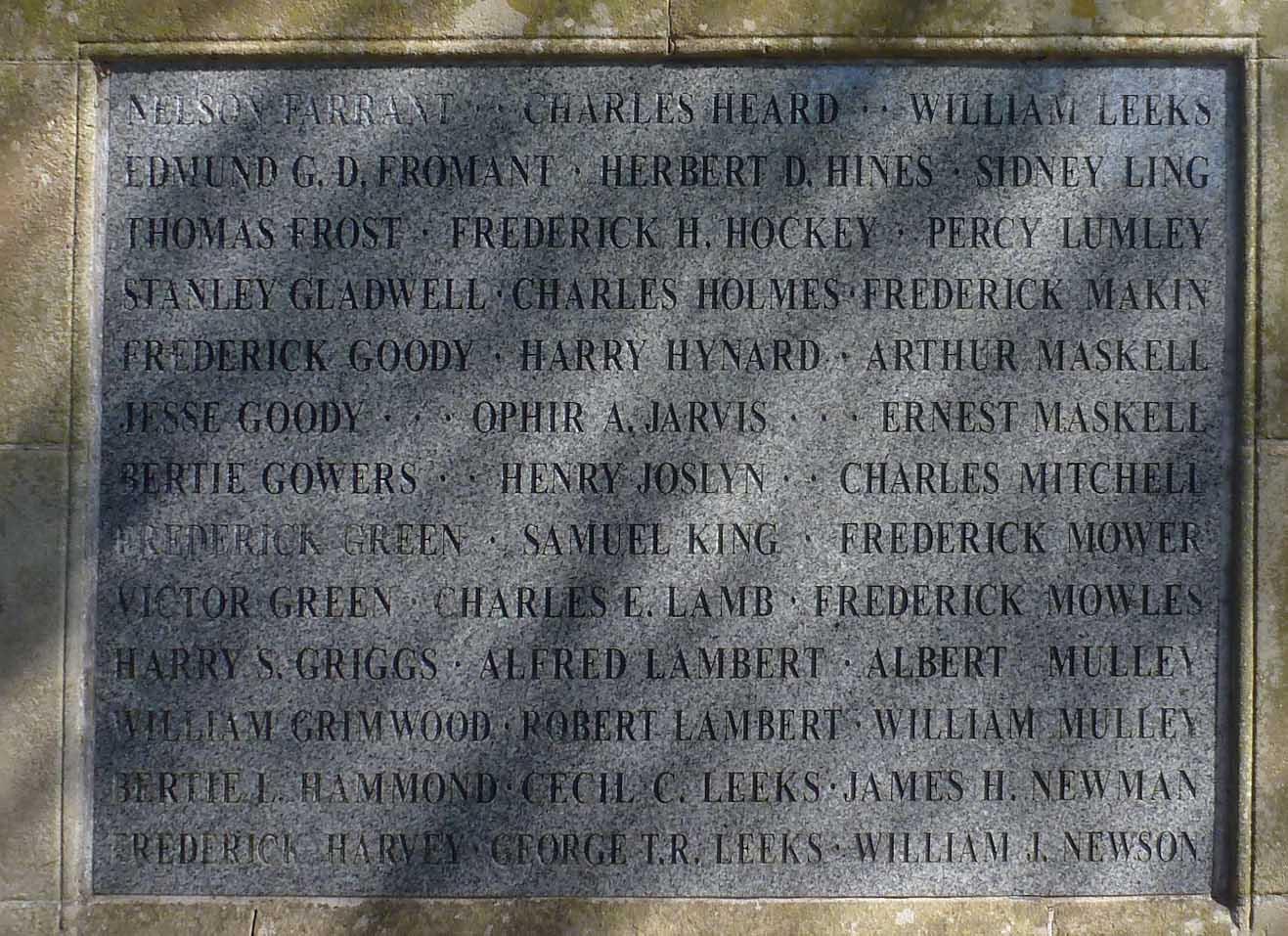 The Hadleigh Memorial