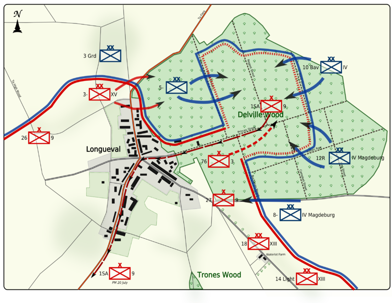 Longueval and Delville Wood.