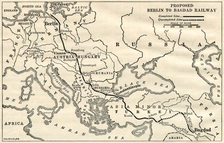By 1916 the Ottoman empire was racing to complete the Berlin to Bagdad railway line.