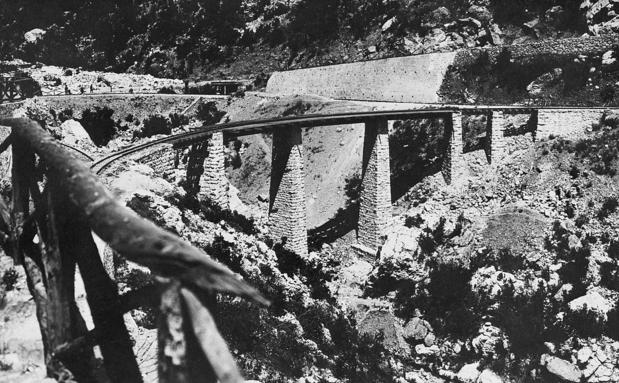 Railway bridge constructed on the Berlin to Bagdad railway line near Hadki Kiri