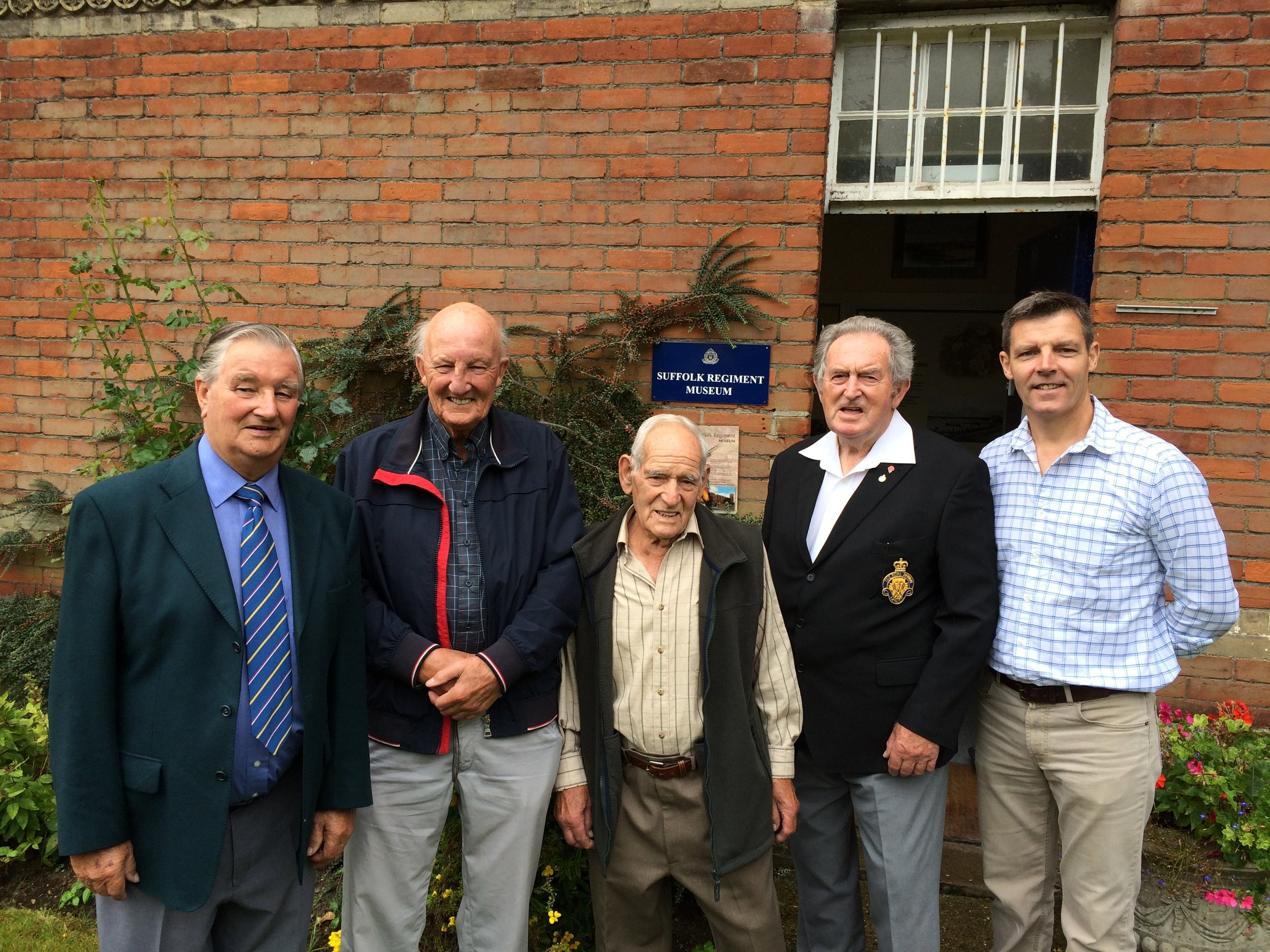 L-R; Vernon Leathers, Terry Wiles, Harry Hughes, Len Davis, Mark Brennan