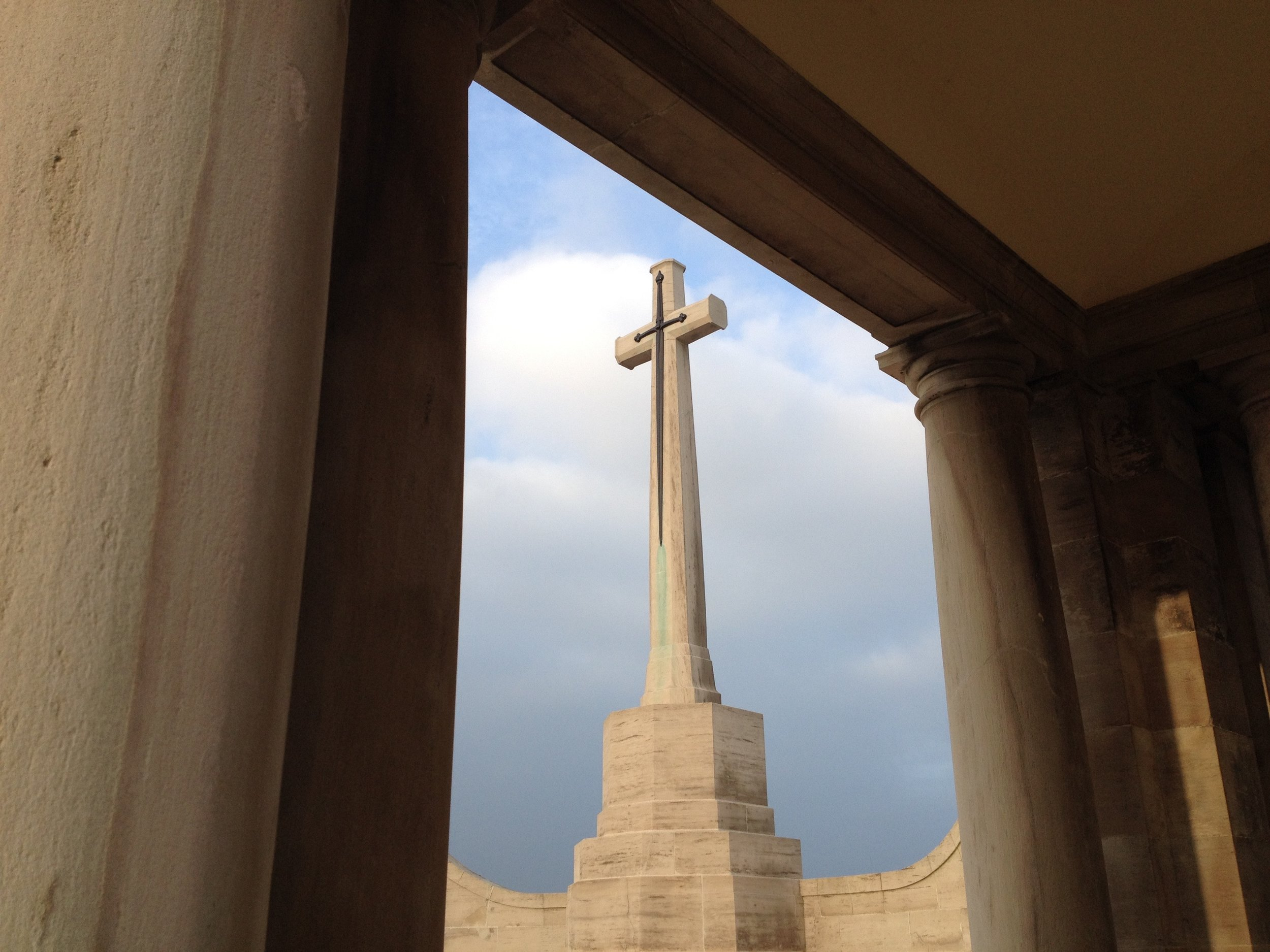 Cross of Sacrifice at the Loos Memorial