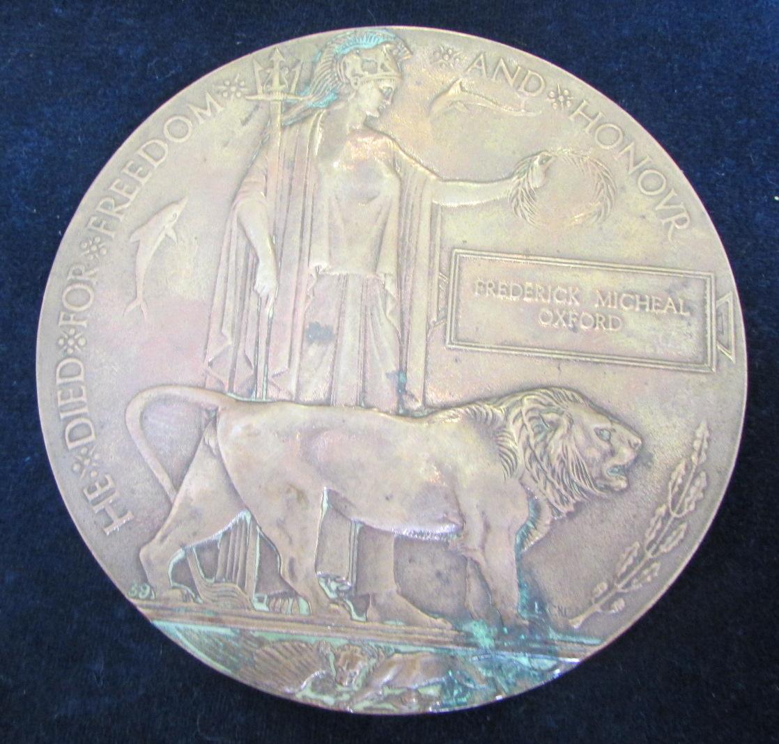Frederick Michael Oxford's Commemorative Memorial.