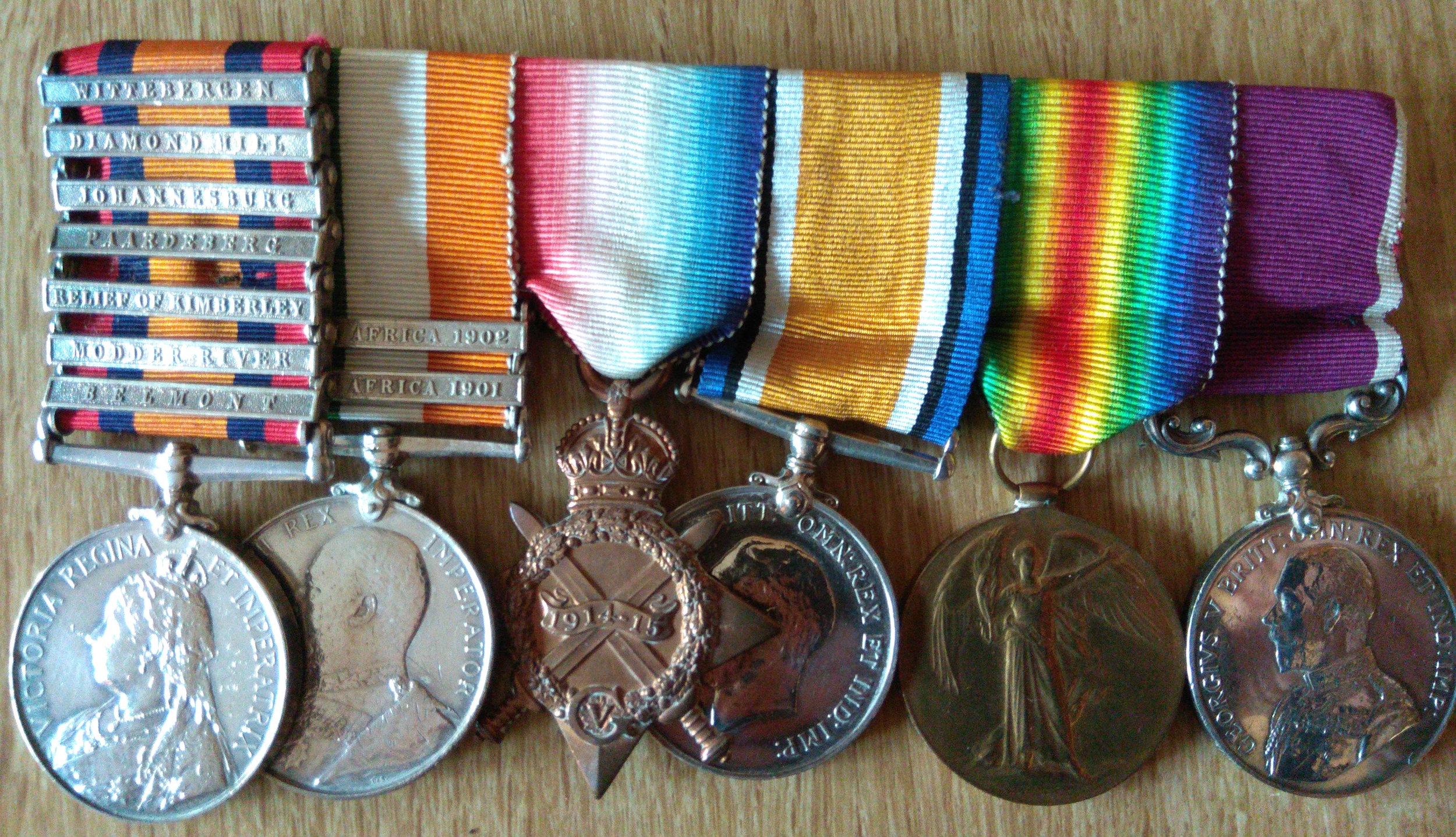Walter's full set of medals