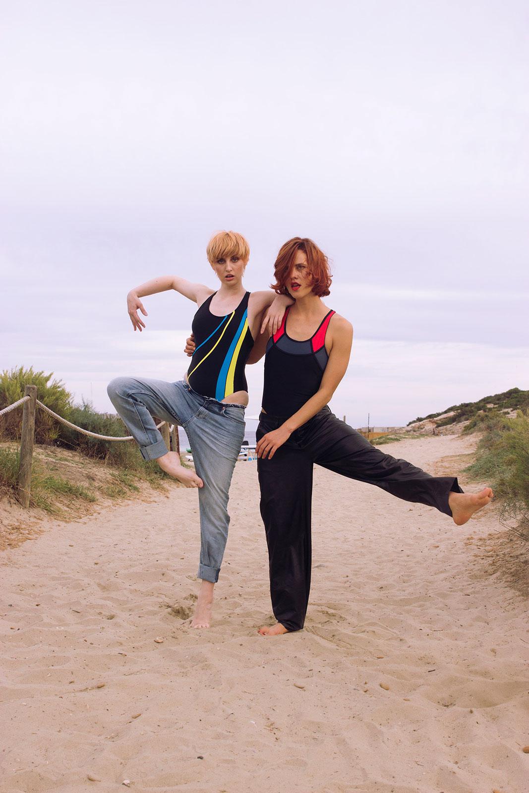 fashion photography models ibiza sandy beach