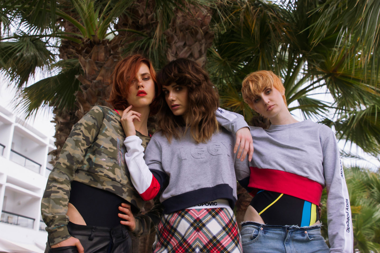 fashion photography models campaign palm trees