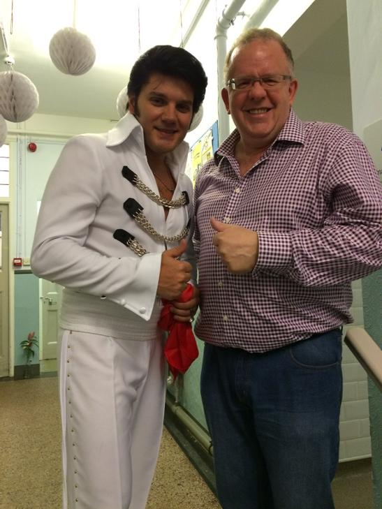 Elvis is in the building......