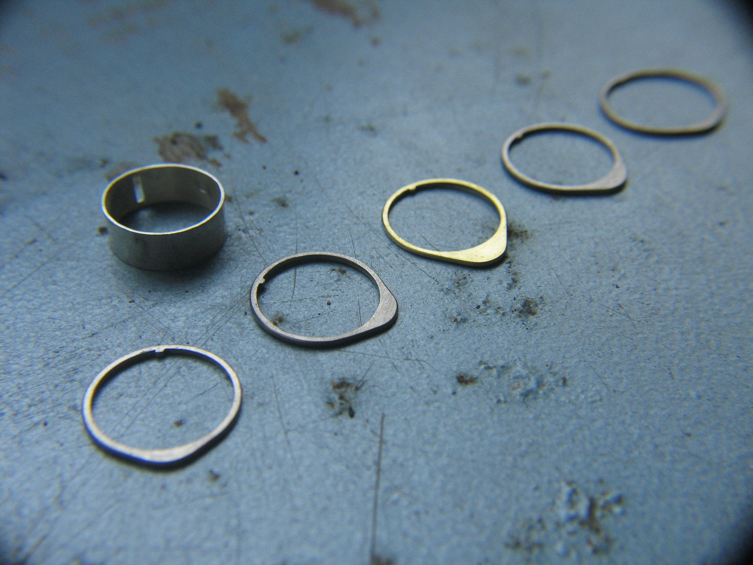 GOLD TITANIUM AND SILVER COMPONENTS