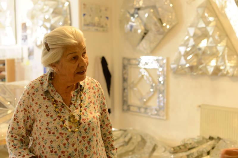 Monir, in her studio, the second time we met.