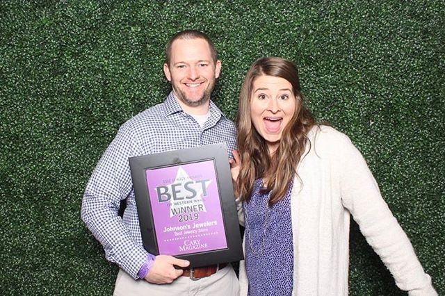 We are honored to be recognized as the BEST JEWELRY STORE in Cary by @carymagazinenc ! We had a ball at the #maggies19 celebration! Bradley and his wife Stephanie attended the celebration 🎉 ! If you don't already read the @carymagazinenc you are missing out on a great community magazine!!