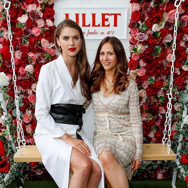 The launch of the @lillet terrace @oxo_tower today was in full swing today; thank you @hunt_communications for having us ❤️ @sabrinacpercy and I needing to sit down in photos as usual due to significant vertical discrepancies.  #Lillet #Summer #Drinks #Party #OxoTower #LilletTerrace
