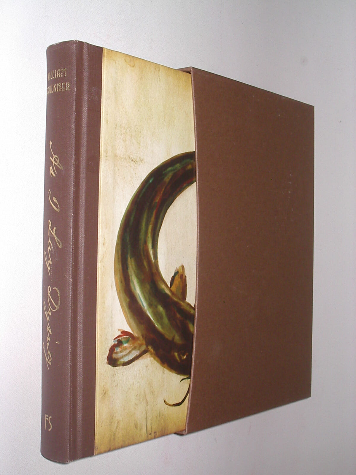 La edición de «Mientras agonizo» de Folio Society con prefacio de William Gay.