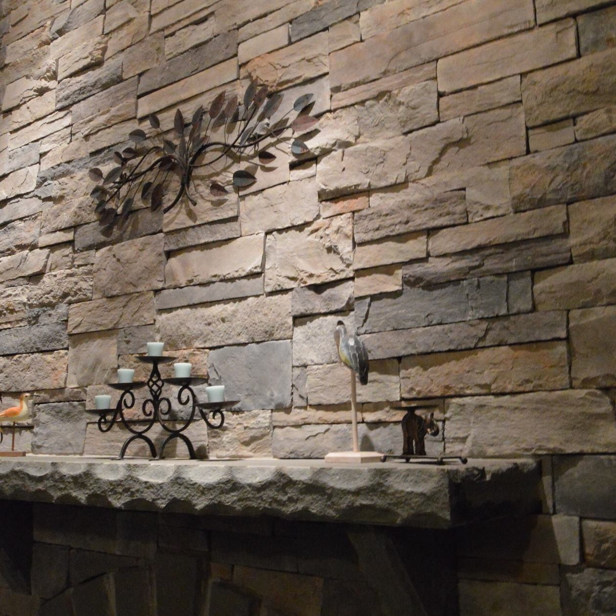 indoor fireplace natural stone work  goshen, warwick, pine island, ny