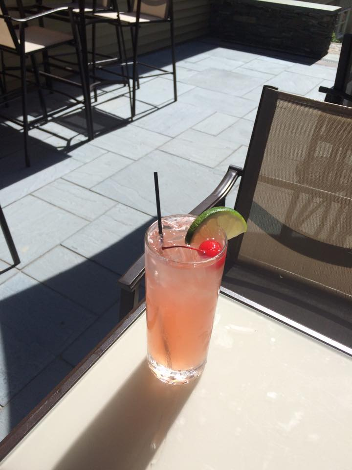 How about an awesome drink out in the courtyard?