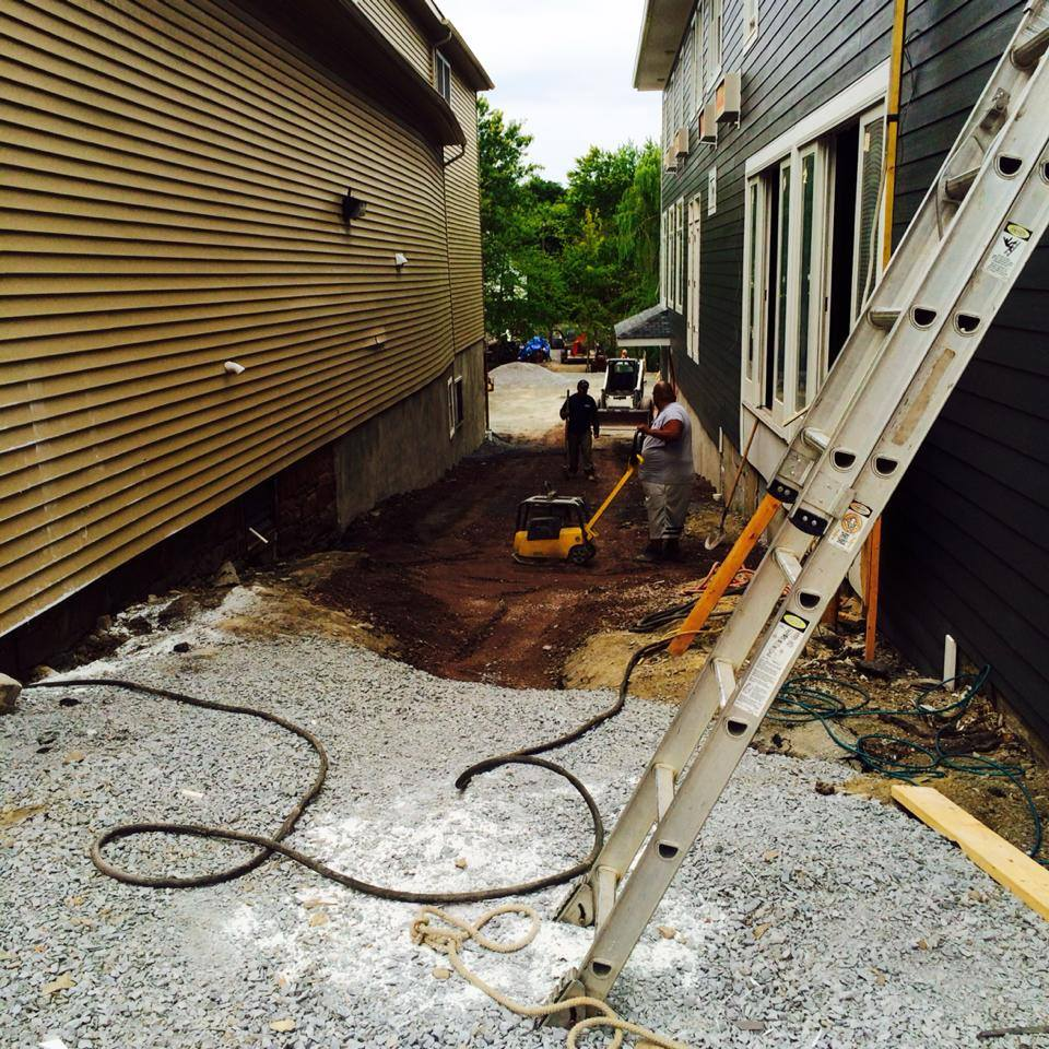 The Landworx of NY crew just getting to work on what would become the outdoor dining area for the Black Dirt Brewhouse in Florida, NY.