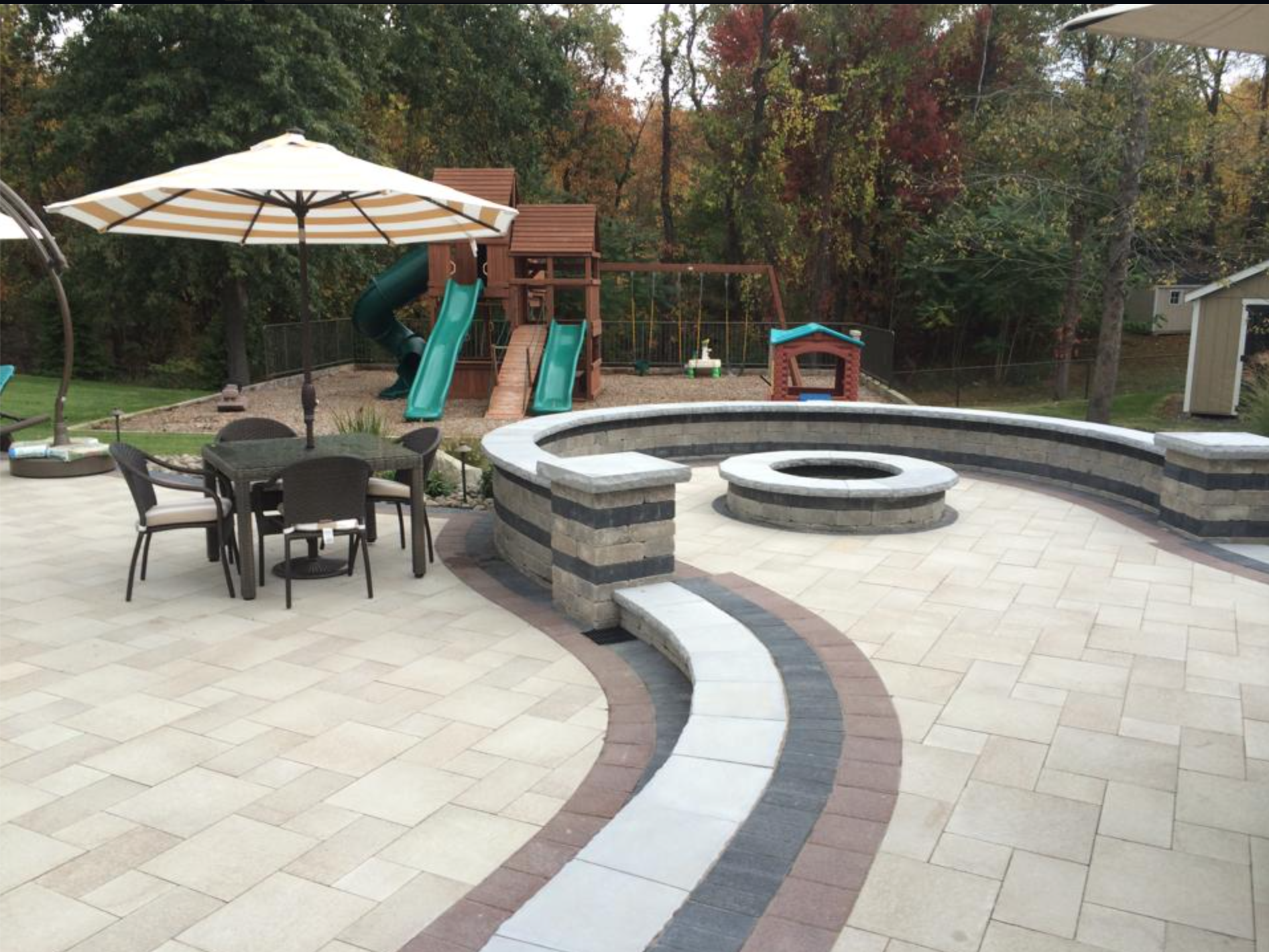 Orange County, NY outdoor living space designed and installed by Landworx NY