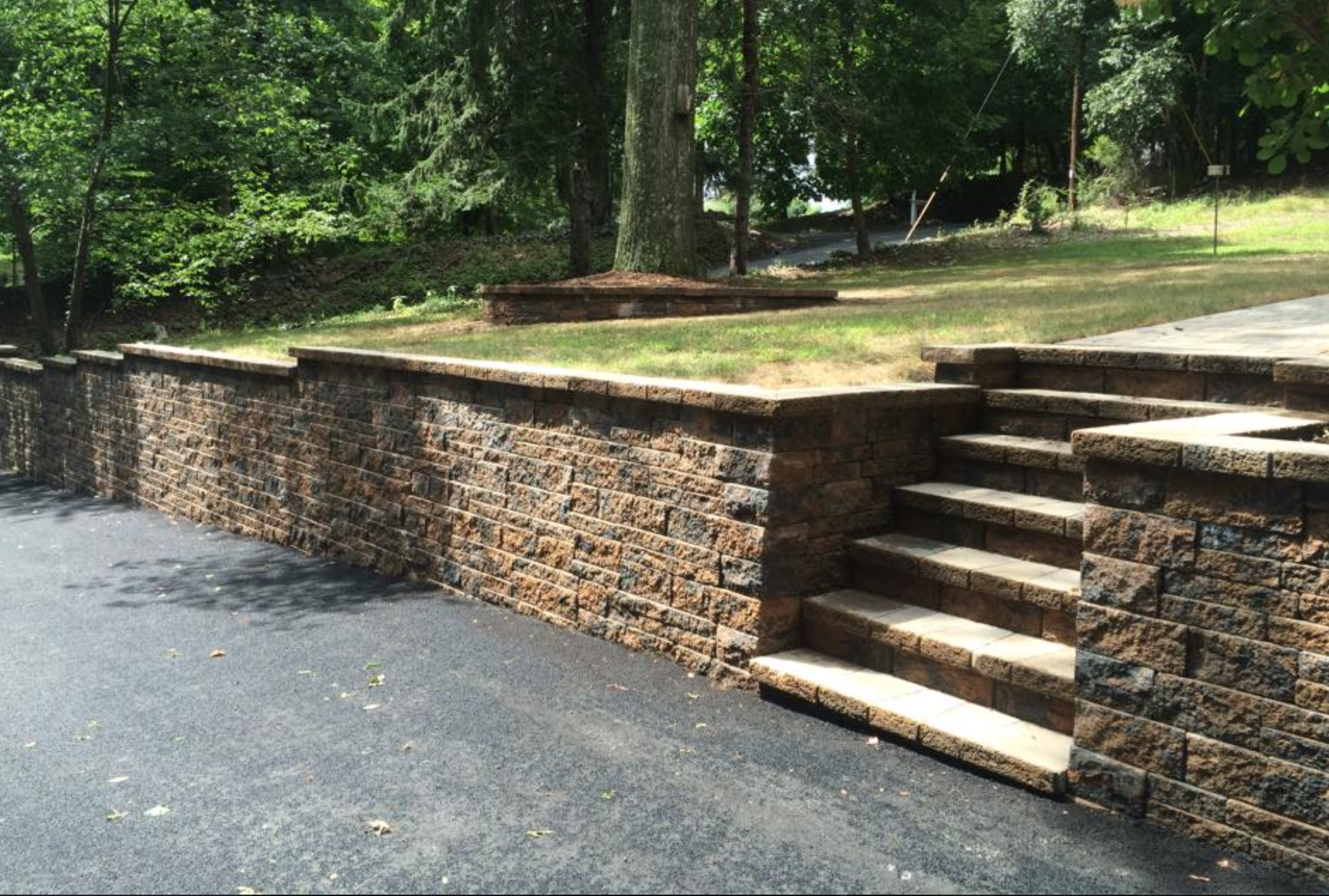 High-quality retaining wall in Warwick NY