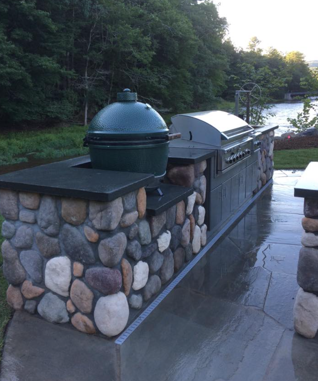 Outdoor kitchen - stunning landscaping in Warwick NY
