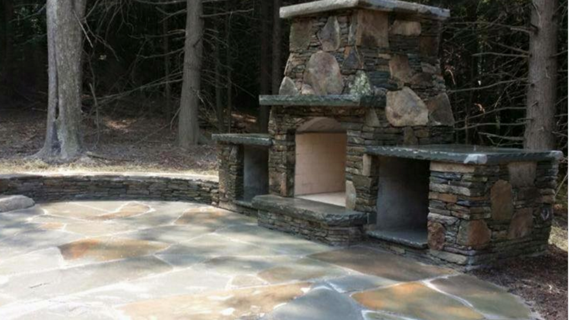 outdoor fireplace material choices in bethel, ny