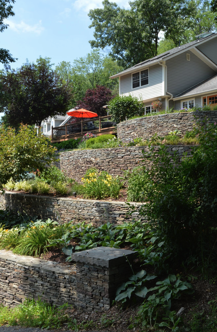 Top retaining wall in Pine Island, New York