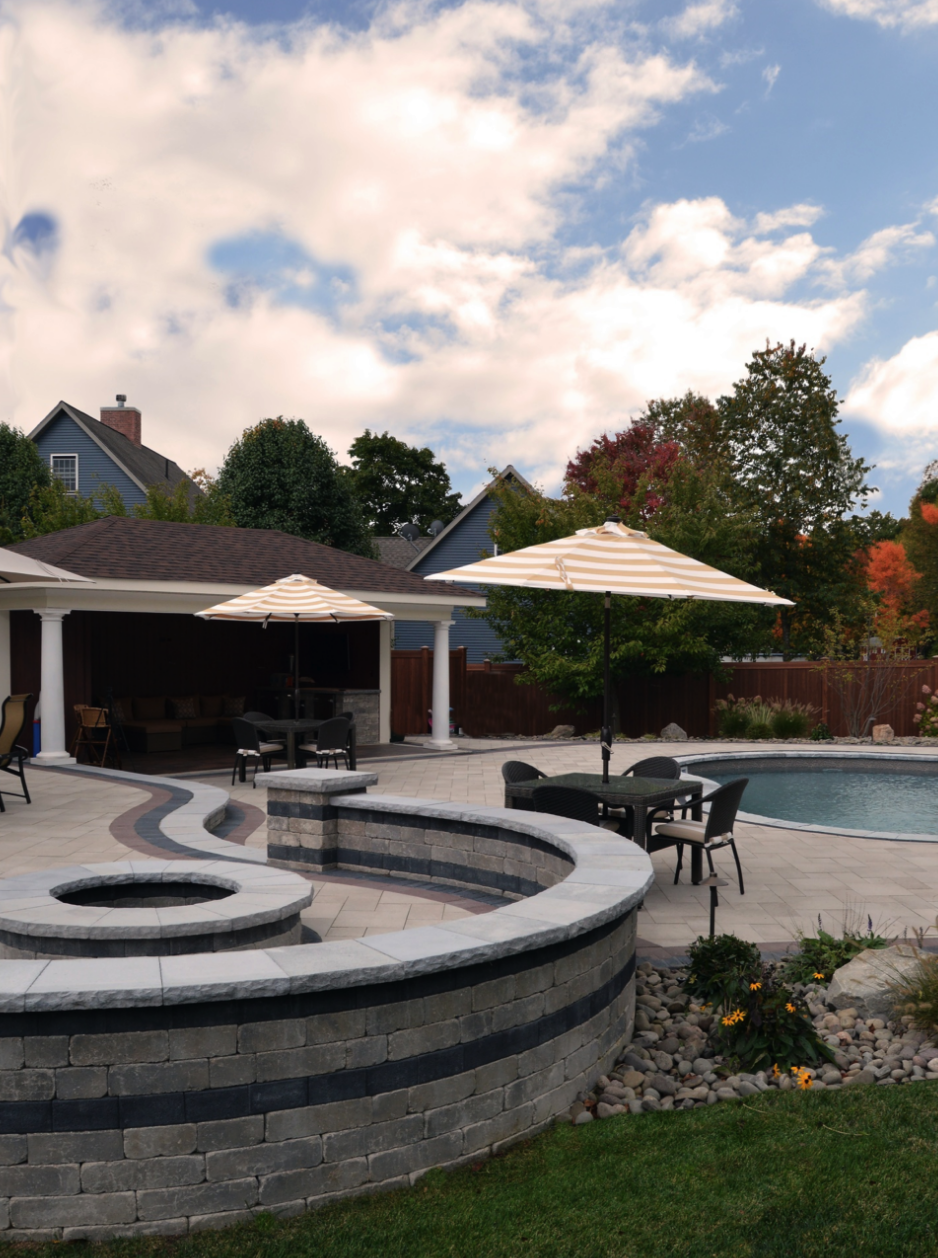 Retaining wall and patio in Warwick, New York