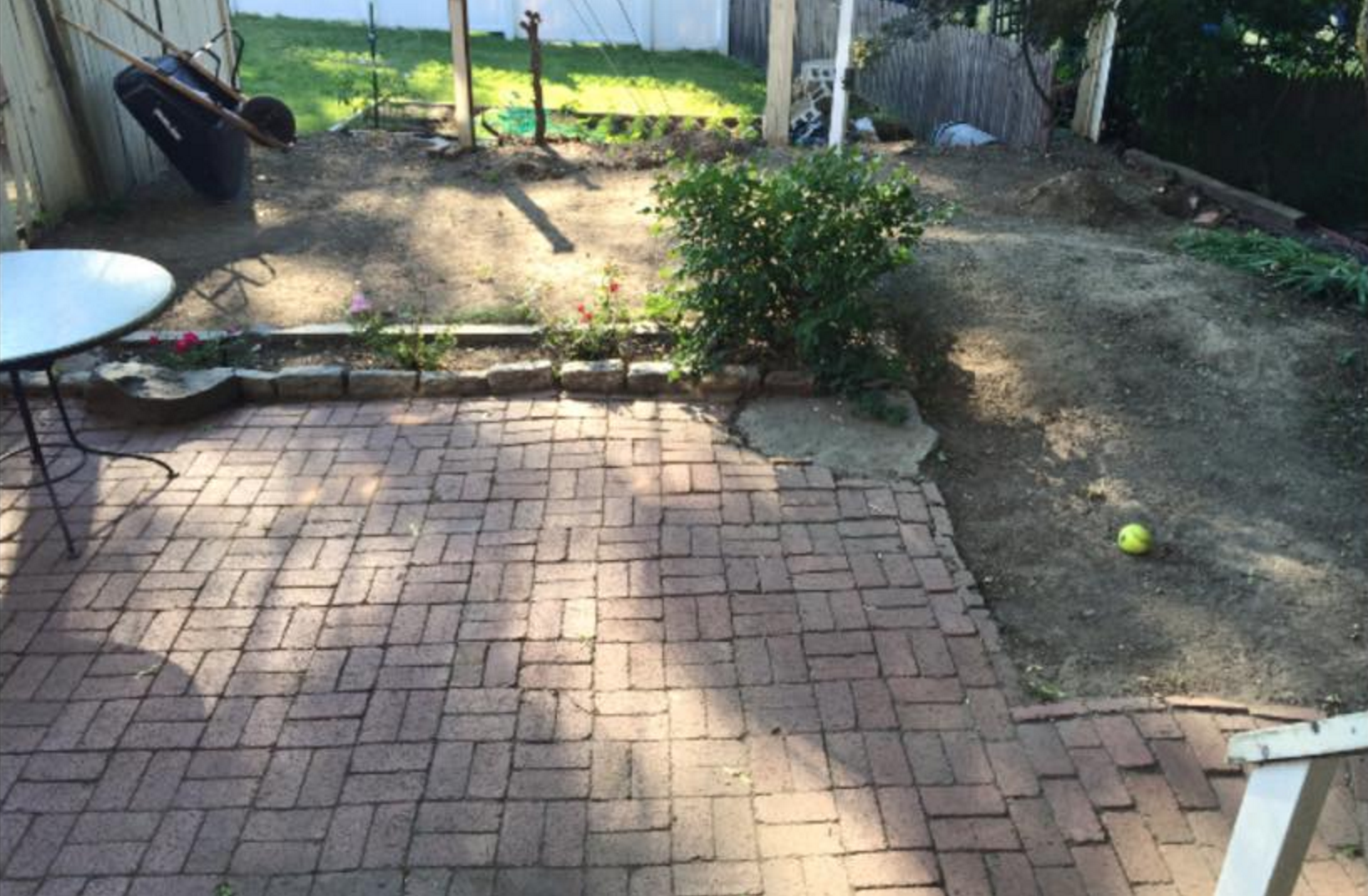 picture of the before landscaping
