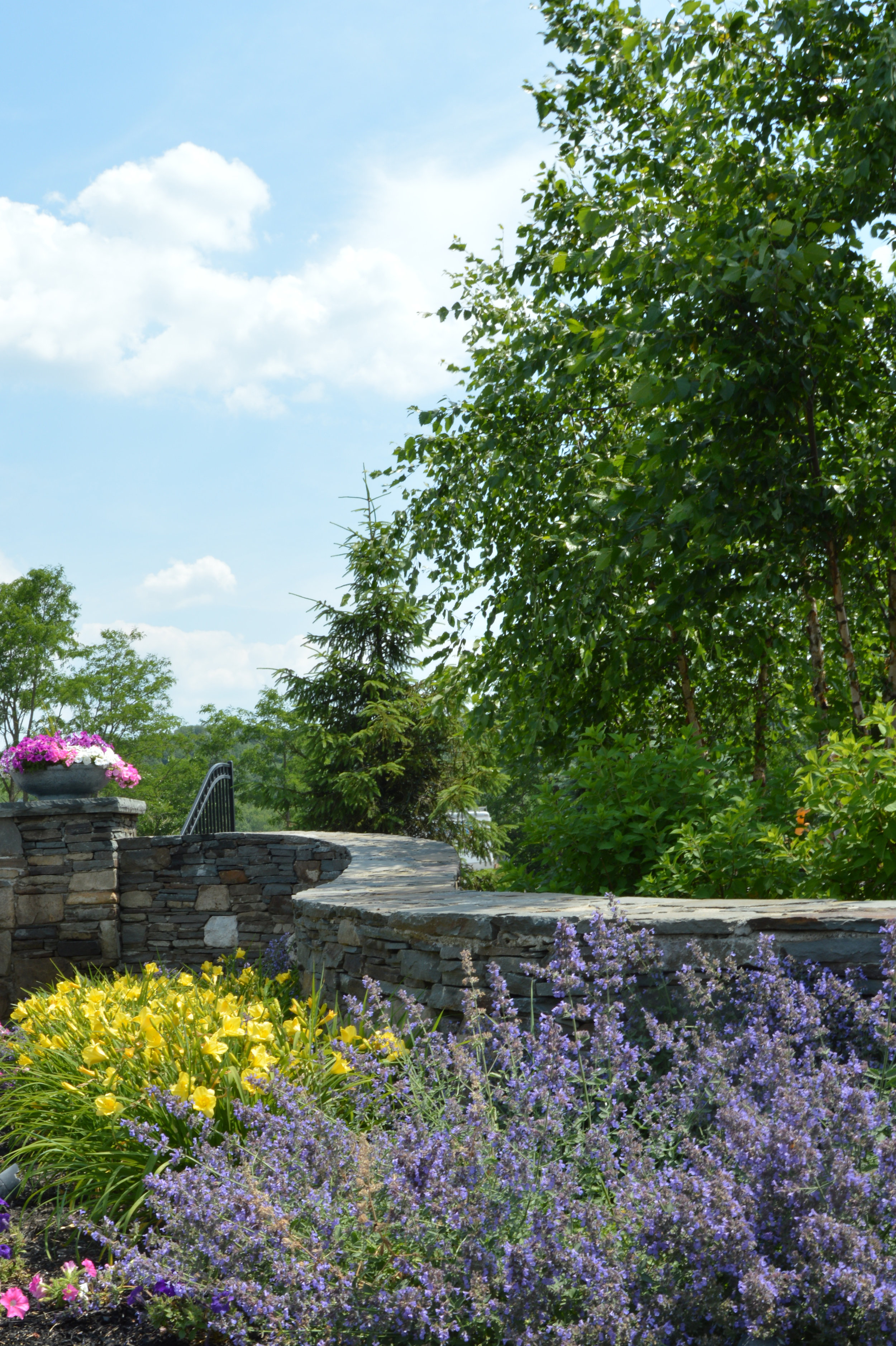Outdoor living and retaining wall remodel in Goshen, NY