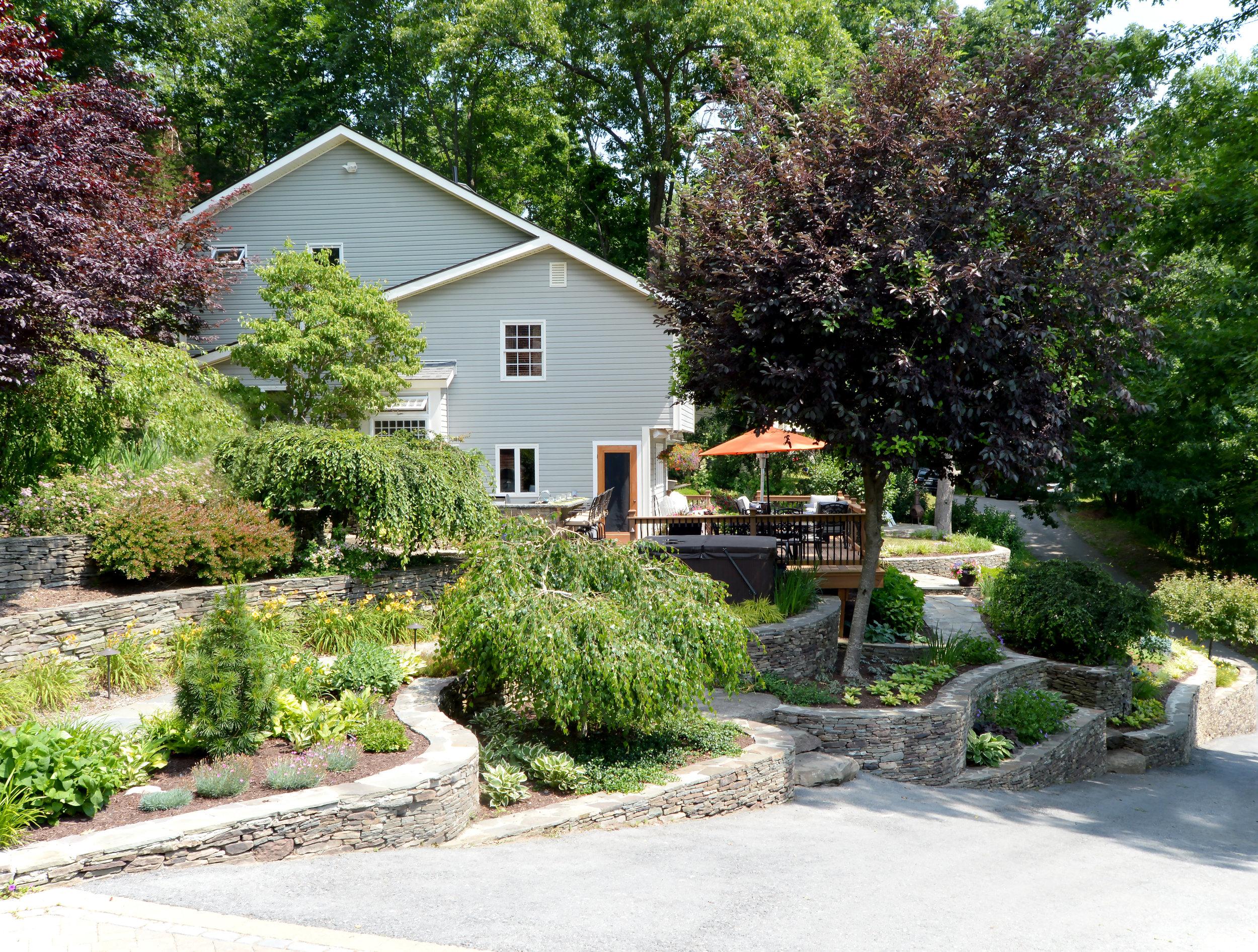 6 Landscaping Ideas For Sloping Yards Landworx Of Ny Landscape