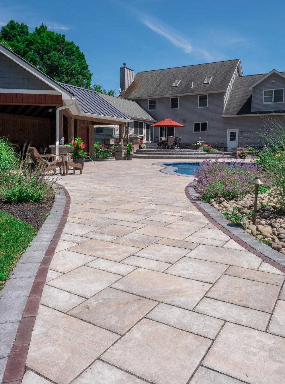 Landscaping with walkways in Goshen, NY