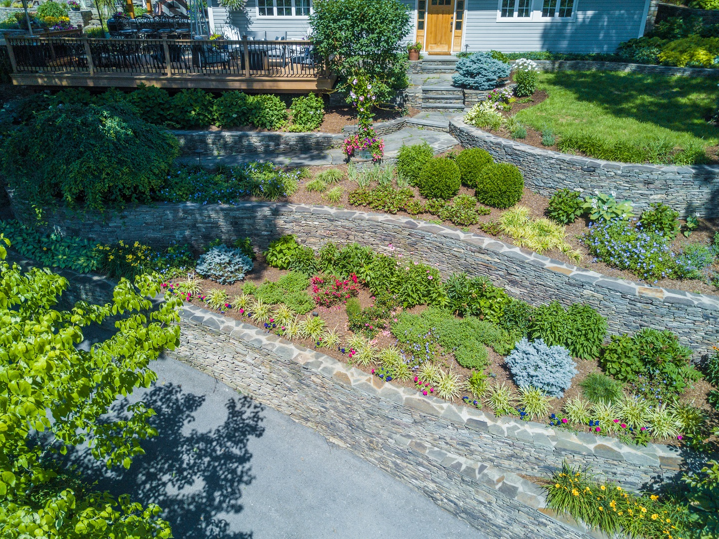 Stunning retaining wall and landscaping in Florida NY