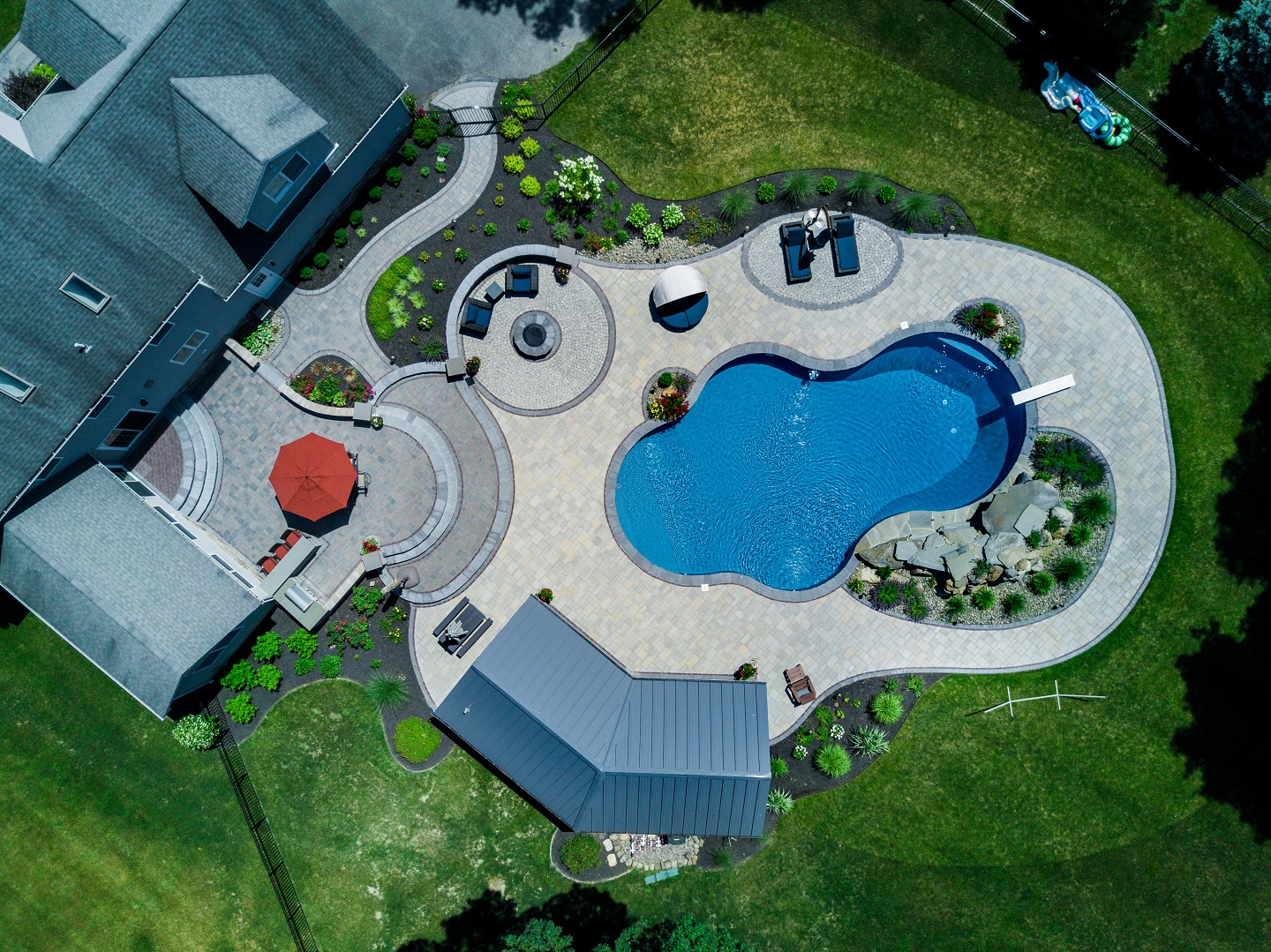 Modern landscape design in Florida NY