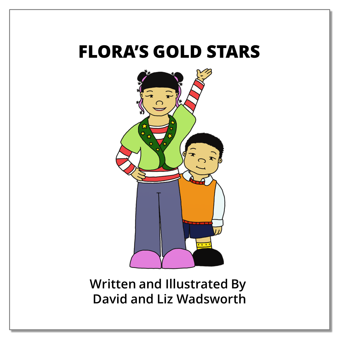 Flora's gold stars   - The parable of the plank and the speck.