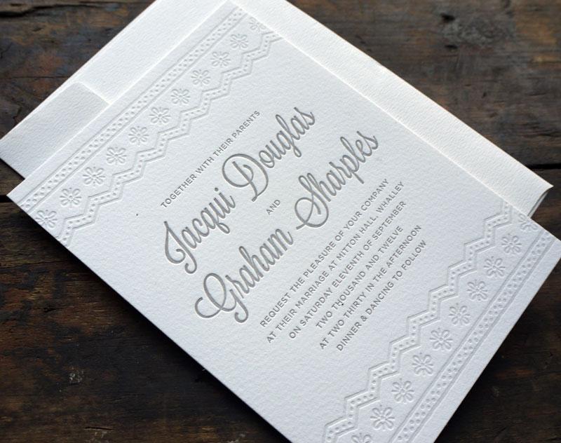 tinted ink letterpress
