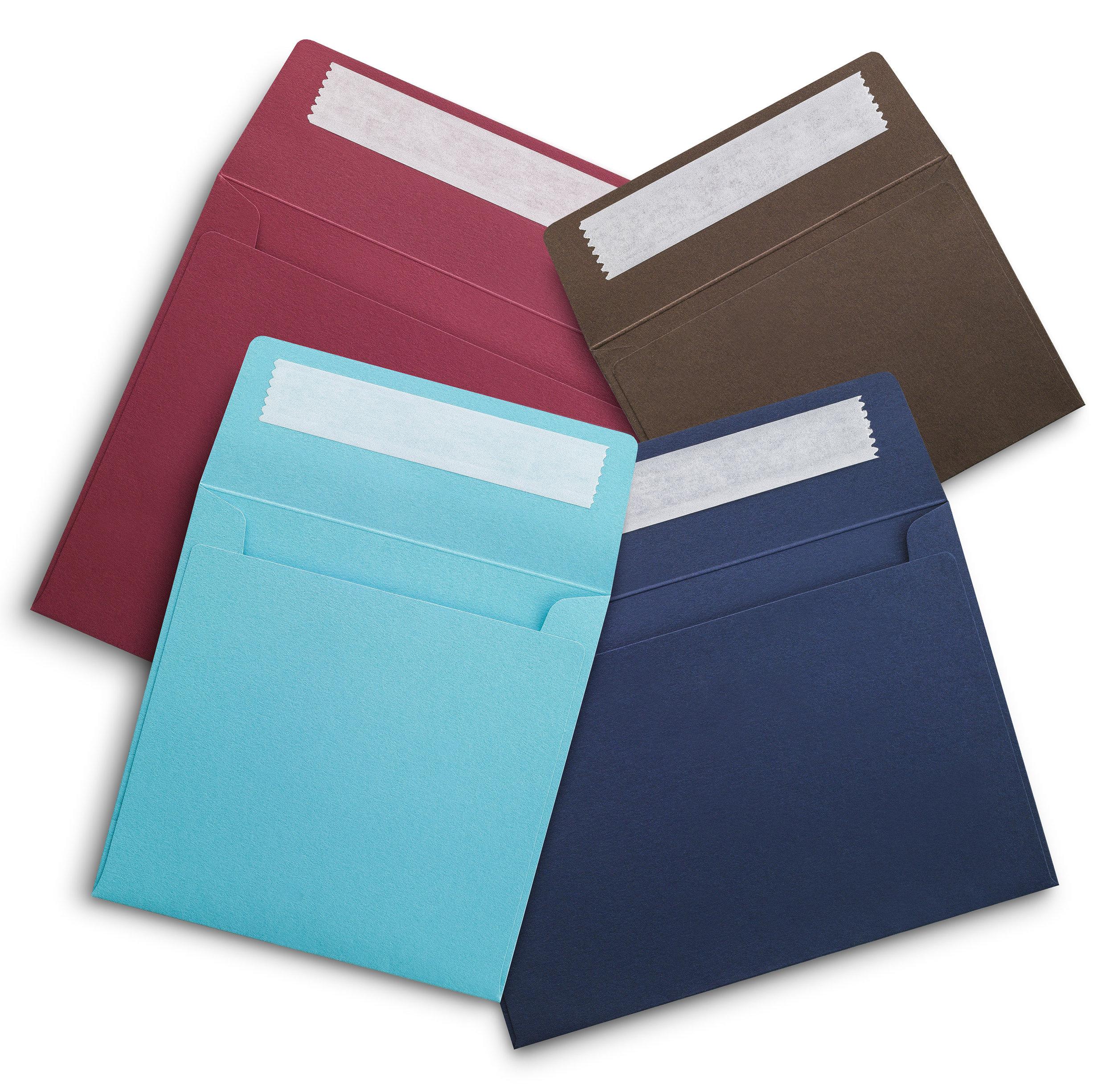 Bespoke coloured envelopes